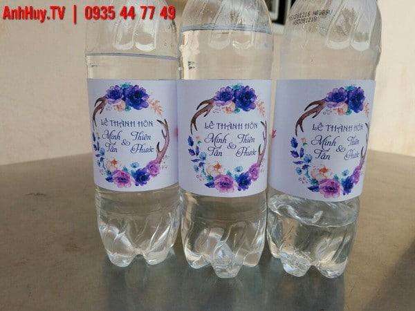 nhãn chai nước suối đám cưới đẹp 0935447749 decal đà nẵng