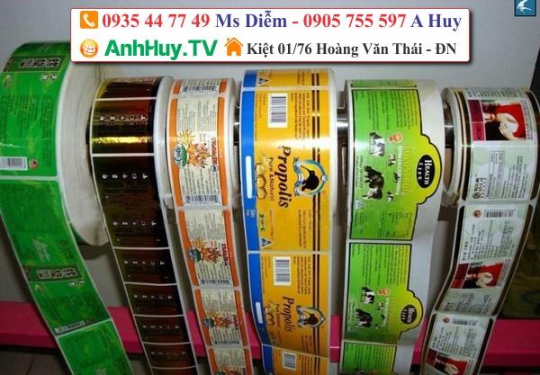 Decal tem nhãn logo dán ly nhựa chai lọ hộp cơm LH : 0935447749 Xuân Diễm - Xưởng In Anh Huy