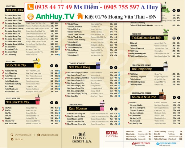 Menu Đà Nẵng LH 0935447749