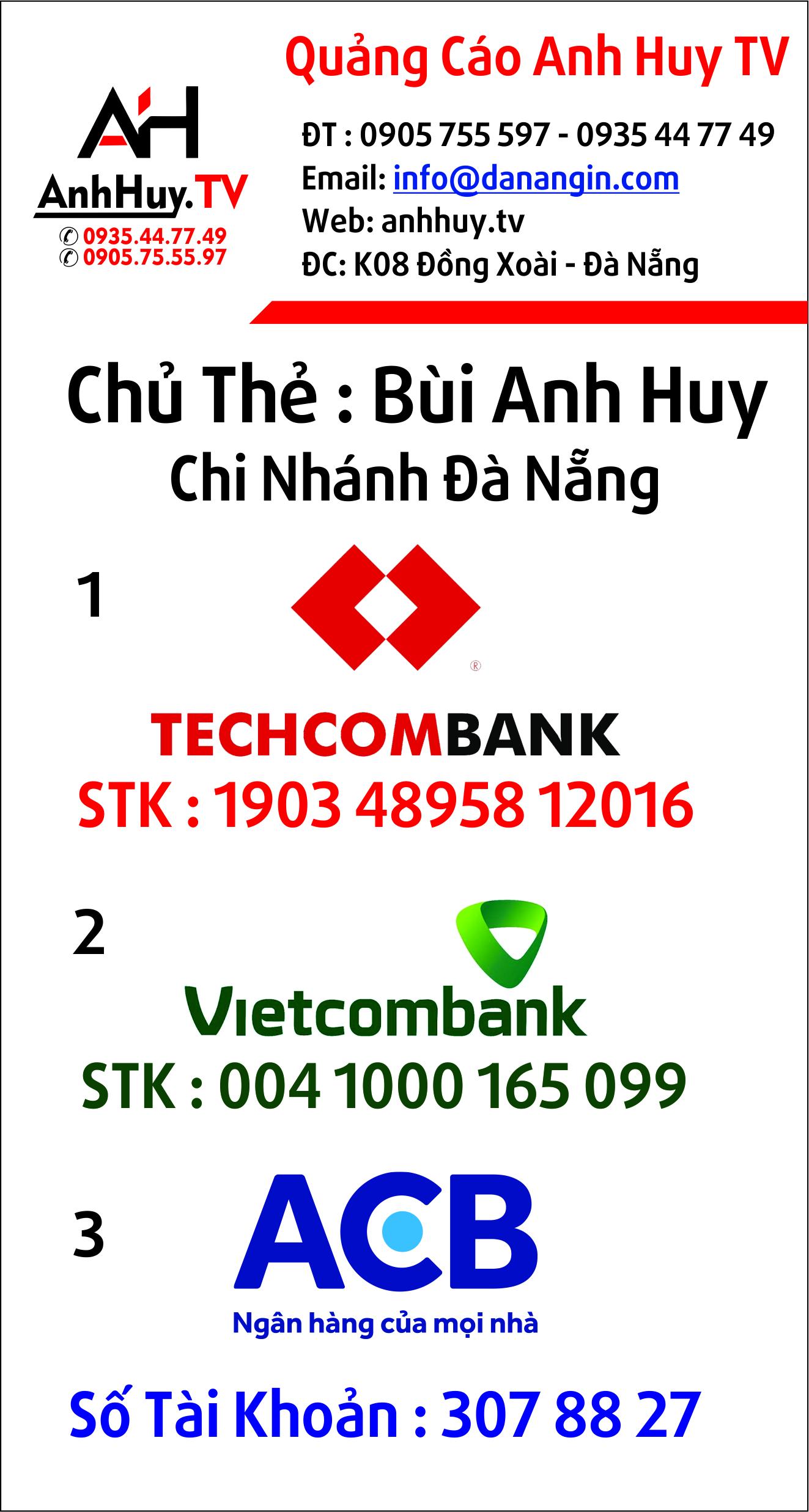 Anh Huy TV Thanh Toán Ngân Hàng