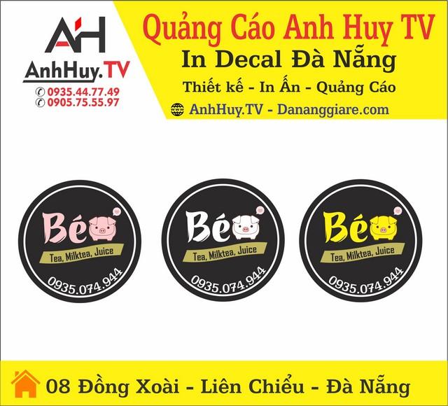 In Logo Tem Nhãn Dán Ly Nhựa Đà Nẵng Béo Tea Milktea Juice