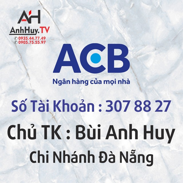 Thanh Toán Ngân Hàng Techcombank Đà Nẵng Anh Huy TV 0905755597